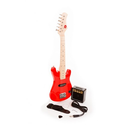 "30"" Red Junior Electric Guitar and Amp Set by Fortissimo"