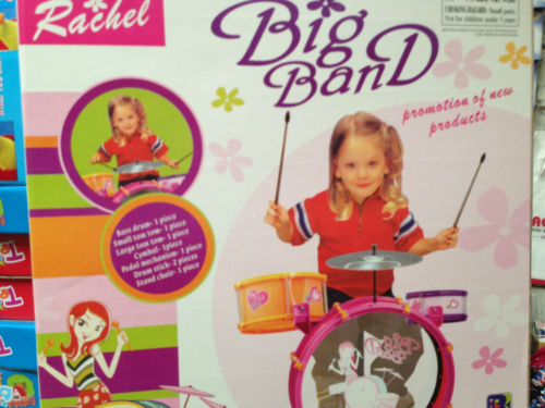 Pink & Purple Big Band My First Toy Drum Kit