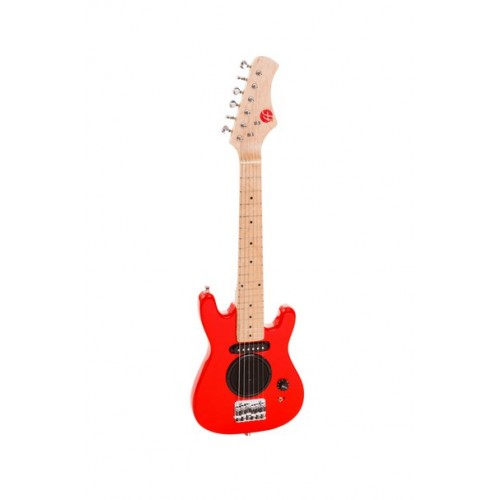 "Red 30"" Fortissimo Junior Electric Guitar with In Built Amp"
