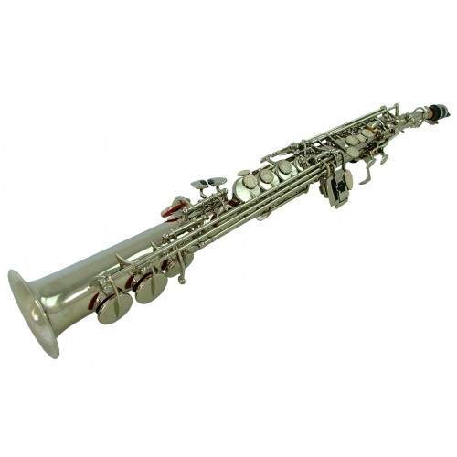 Straight Chicago Bb Silver Plated Soprano Saxophone