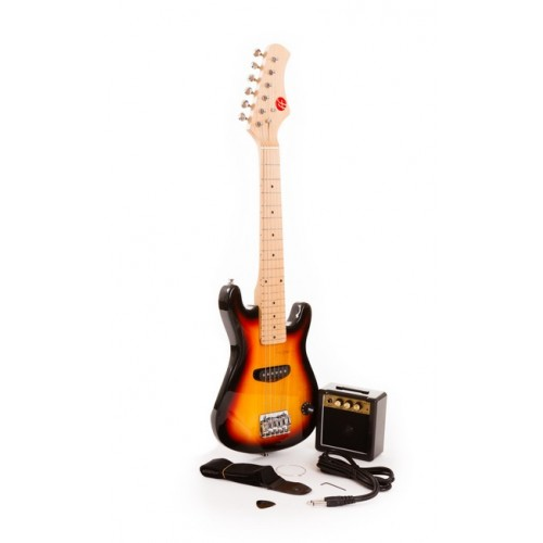 "Sunburst 30"" Junior Electric Guitar and Amp Set by Fortissimo"
